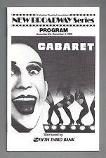 "Joel Grey ""CABARET"" Marcia Lewis / Kander & Ebb 1988 Columbus, Ohio Playbill"