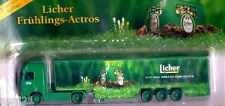 SALE ......HO 1:87 LICHER GERMAN BEER TRUCK MB AXOR SPRING SEMI TRAILER