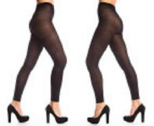PLUS SIZE 16 - 20 Footless Tights BLACK  50 Denier FAST FREE POST AUSSIE SELLER