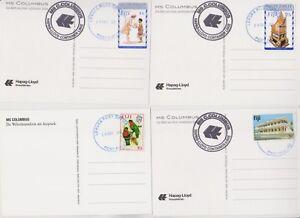 Fiji Briefe, Ansichtskarten, Schiffspost, 15 Belege mit Sondermarken 2011