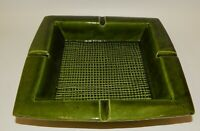 Vintage MCM Lane Ceramics Avocado Green Pipe Cigarette Ashtray