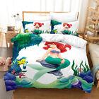 Ariel Meerjungfrau Prinzessin Bettwäsche Set 2/3tlg Bettbezug Kissenbezug Einzel günstig
