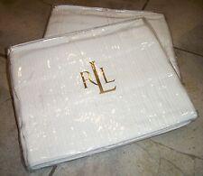 1106 Ralph Lauren Ivory White Lauren Suite Matelasse King Pillow Sham Cover