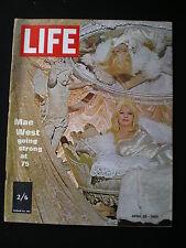 LIFE magazine - April 28th 1969  Mae West at 75 , Hijacking