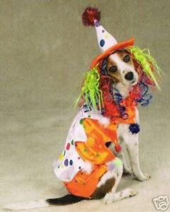 Zack & Zoey CLASS CLOWN  Dog Pet Halloween Costume XS S M L XL
