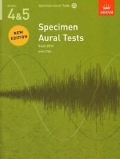 SPECIMEN AURAL TESTS Revised 4-5 + CDs ABRSM*