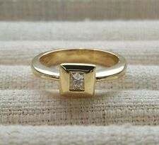 Ladies diamond solitaire ring 18ct Yellow Gold Princess cut 0.25CT TDW VAL $2700