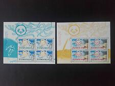 2004 - Romania - Europa Summer  Holidays - 2 Mini Sheets, Mi.5822 - 5823 , MNH