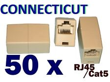 50 X RJ45 CAT5 6 Female CAT5E Network Ethernet Connector Adapter Joiner Coupler