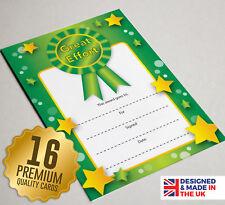 16 Great Effort Reward Certificates - Teach Resources Children / Kids Award