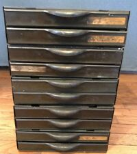 Vintage Industrial Parts Cabinet Hardware Craft Equipto USA Made 10 Drawers