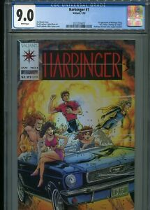 Harbinger #1  (1st appearance)  CGC 9.0  White Pages