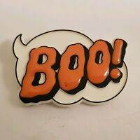 Vintage HALLMARK 1984 Halloween PIN BOO  Holiday Jewelry LAPEL PIN