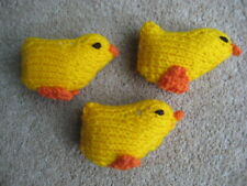 Carefully Hand Knitted Chicks x 3
