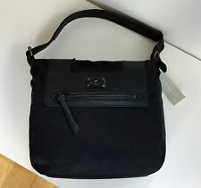 Radley Marina Medium Hobo Shoulder Bag New with Tags Black Nylon Leather Trims