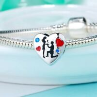 MARRIAGE CHARM CUTE PENDANT DANGLE 925 GENUINE STERLING SILVER WEDDING