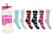 4.7 Tog Ladies Womens Ultimate Heat Thermal Bed Socks Extra Thick Warm Fleece Design C Hot Pink