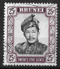 Brunei: 1964 25 cents Sultan Omar stamp SG127, Fine used