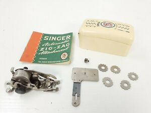 VINTAGE SINGER AUTOMATIC ZIG ZAG ATTACHMENT WITH CAMS (SWISS 160990, RARE)