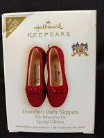 2009 Hallmark Keepsake Ornament Wizard of Oz Dorothy's Ruby Slippers Ltd Quan