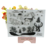 Lovely Xmas theme animals clear stamps scrapbooking album card decor craft BR