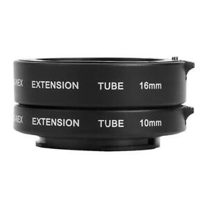 Autofocus AF Macro Extension Tube Set 10mm 16mm for Sony NEX E-Mount Camera