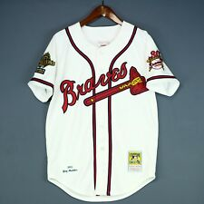 100% Authentic Greg Maddux Mitchell Ness Braves MLB Jersey Mens Size 40 M