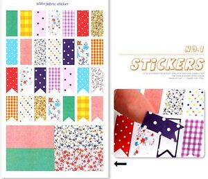 Stickers Set 4 Paper Sheets 19cm x 11cm Planner Diary Paper-crafts Children UK