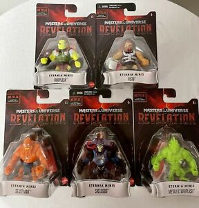 MASTERS OF THE UNIVERSE REVELATION ETERNIA MINIS COMPLETE 5 FIGURE LOT
