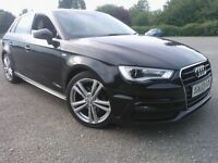 AUDI A3 S LINE 1.6TDI 2014 5 DOOR BLACK