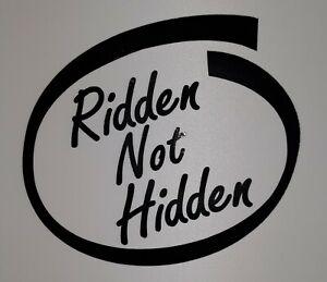 Ridden not Hidden  Car  Scooter lambretta vespa Camper Van Decal sticker