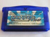Pokémon Sapphire Ver. Nintendo Game Boy Advance GBA Japanese Cartridge Only F/S