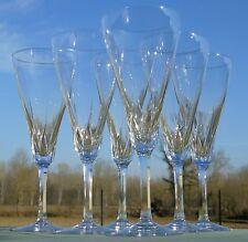 Villeroy et Boch - Service de 6 flûtes à champagne en cristal taillé