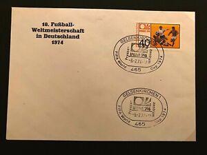 Fussball - WM - Beleg WM 1974 - DDR - Pressezentrum Gelsenkirchen