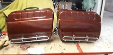 Guzzi California 2 borse laterali rigide d'epoca in buono stato AMARANTO