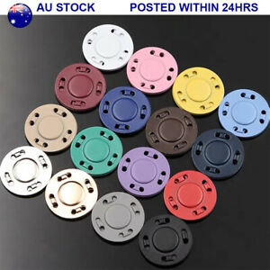 1Set 20MM Metal Round Magnetic Snap Buttons Sew On Coat Bag DIY Fasteners