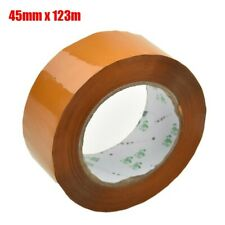 1 ROLL Tape 45mm X 123m Buff Brown Clear Packaging Parcel Polypropylene Strong