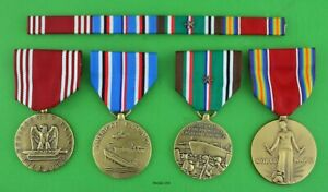 4 Army WWII European Theater full size Medals & Ribbons - Campaign Star