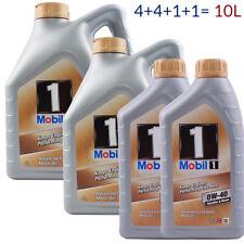 Mobil 1 FS 0W-40 4L + 4L + 1L + 1L = 10 Liter Motoröl New Life Nachfolger 10L