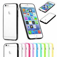 TPU Gel Rim Bumper Case Frost Clear Transparent Back Skin For iPhone 6 6s / Plus