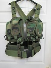 OldSchool London Bridge LBT 1879A Woodland Split Front Chest Rig SEAL DEVGRU NSW