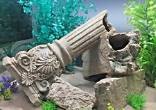 Fallen Greek Pillar Large Grecian Centrepiece Aquarium Fish Tank Ornament