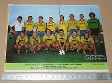 CLIPPING POSTER FOOTBALL 1980-1981 D2 THONON
