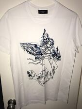 Brand New Givenchy Metallic Blue Angel Print Men's T-Shirt Size M