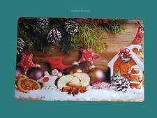 Platzset Pefferkuchenhaus Orangen Zimt Tischset  Advent Weihnachten Lebkuchen