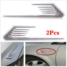 2Pcs Car Side Air Vent Fender Autocollant requin Gill Housse Décorative Grille Autocollant
