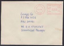 1988 UAE, Local Cover Dubai to Abu Dhabi, meter mark franking [bl0015]