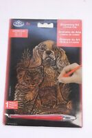 ROYAL & LANGNICKEL Engraving Art Copper Foil A5 Puppy Kitten Kit NEW SEALED