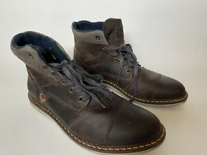 Bull Boxer Chukka Boots Men's 10 EUR 43 Brown Leather EUC