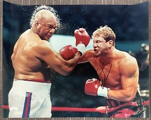 Tommy Morrison Signed Photo 16x20 Boxing Punch Autograph vs George Foreman JSA